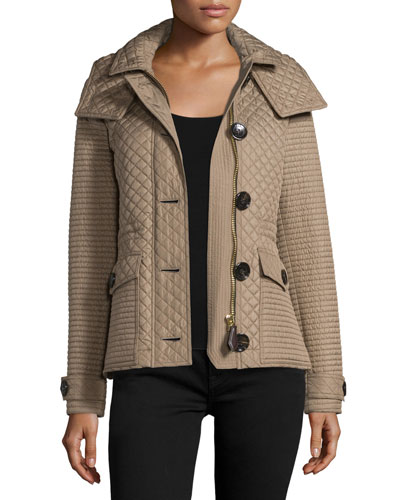 Nealsbrooke Multi-Quilt Hooded Jacket, Mid Taupe