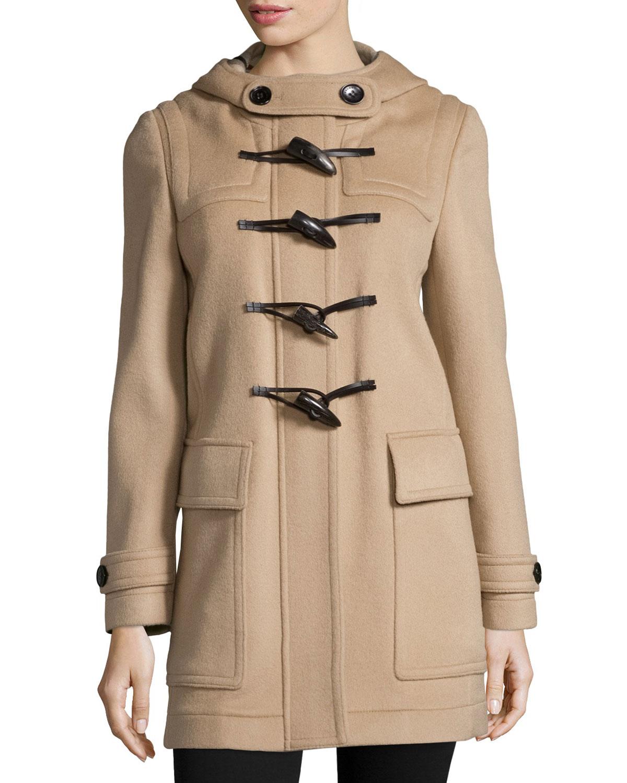 Baysbrooke Hooded Wool Duffle Coat, New Camel