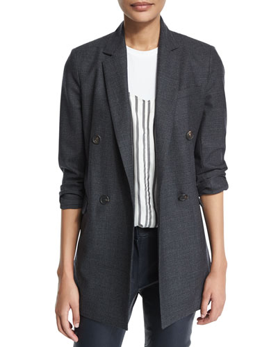 Prince Of Wales Plaid Jacket, Graphite