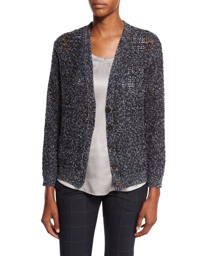 Luxury Madras Cardigan, Night