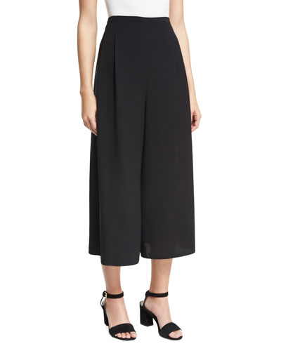 High-Waist Culottes, Black