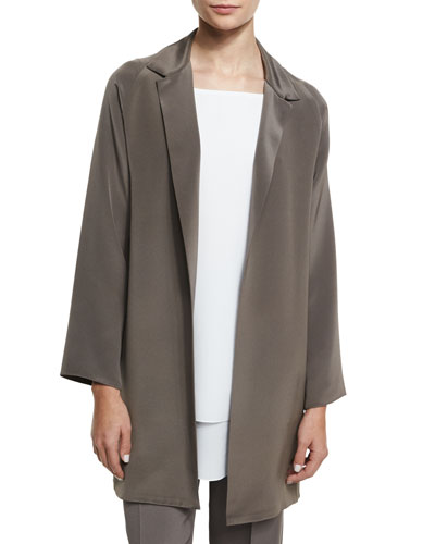 Long-Sleeve Tunic Jacket, Mushroom