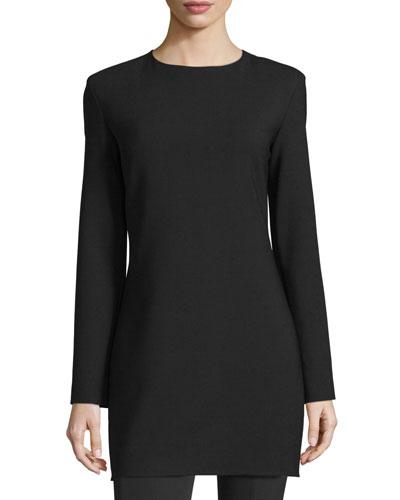 Noma Long-Sleeve Mini Dress, Black