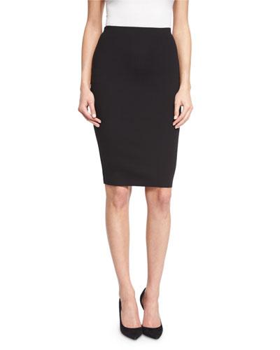 Larem High-Waist Pencil Skirt, Black