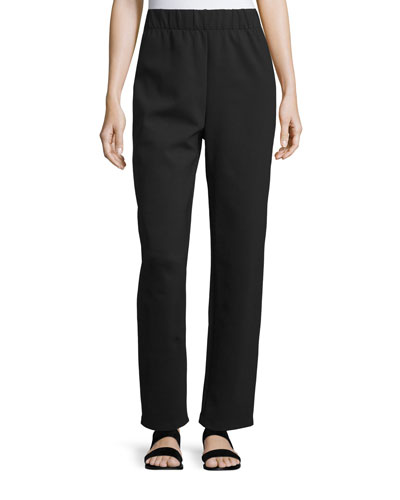 Leanne Straight-Leg Easy Pants, Black