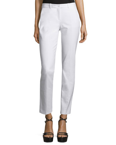 Samantha Skinny Ankle Pants, Optic White