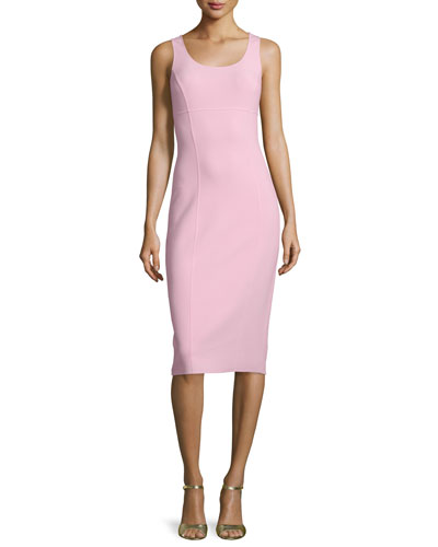 Sleeveless Scoop-Neck Sheath Dress, Ballerina