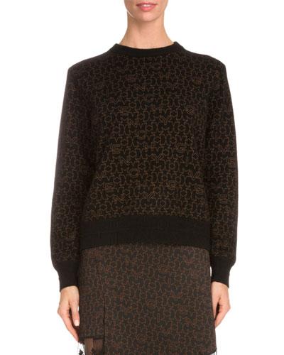 Star-Print Sweatshirt W/Contrast Trim, Black