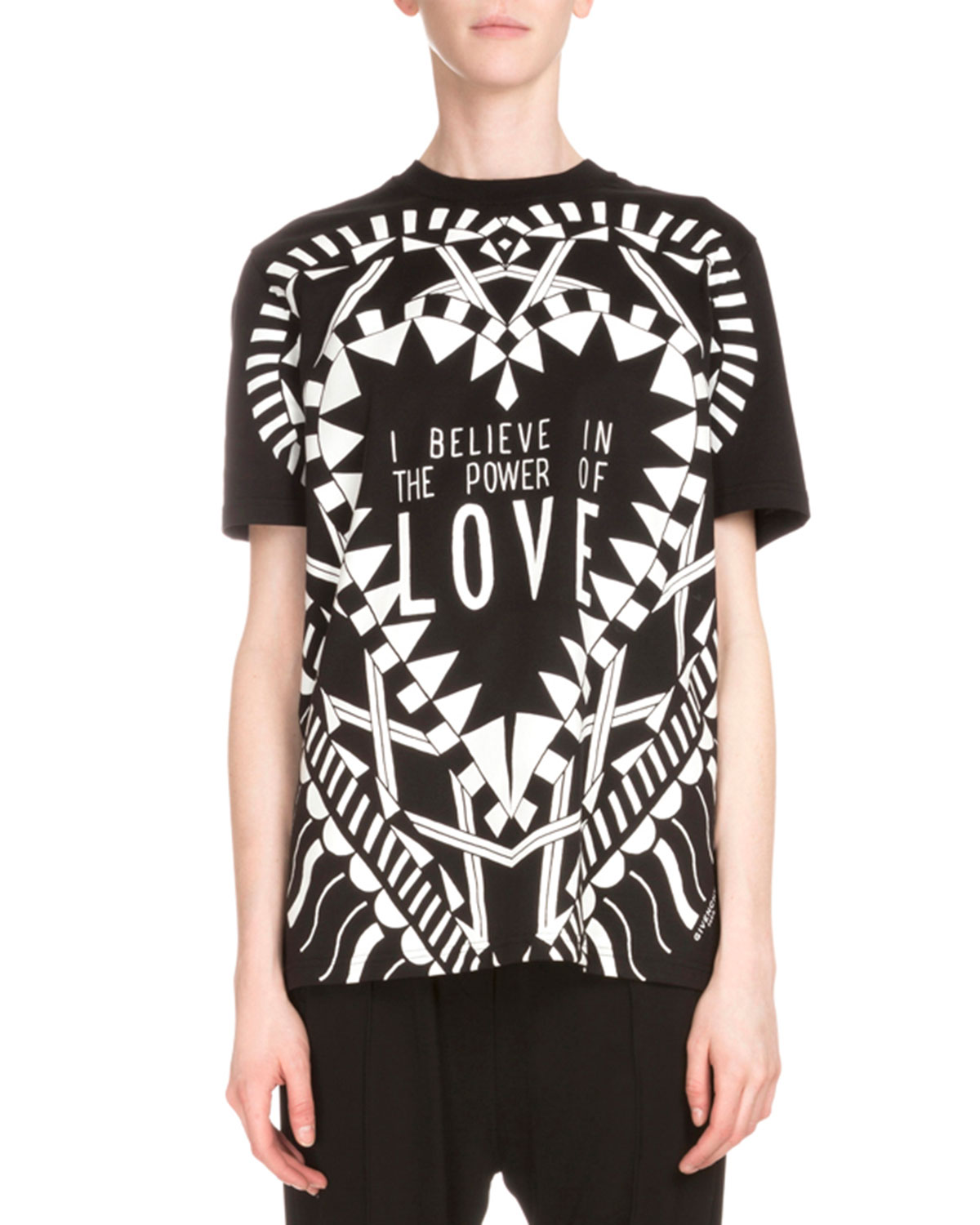 Short-Sleeve Love Graphic Tee, Black