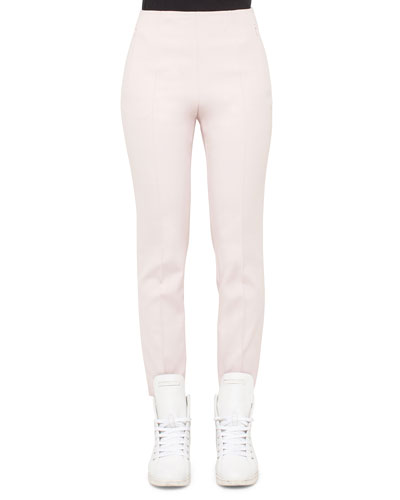 Conny Slim-Leg Ankle Pants, Flamingo