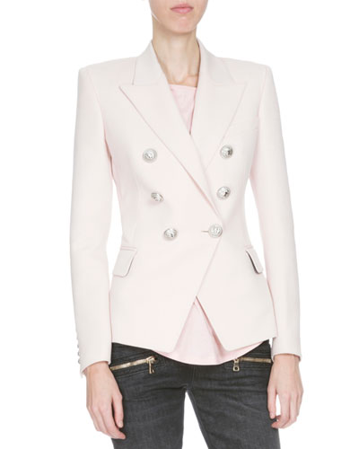 Classic Double-Breasted Blazer, Rose