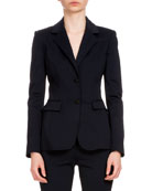 Altuzarra Fenice Two-Button Blazer, Navy