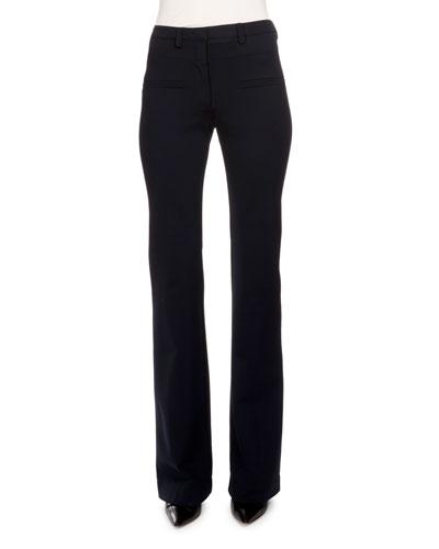 883857a6b3c6 Navy Flare Pants