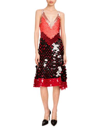 Gilda Sleeveless Paillette Dress, Blush