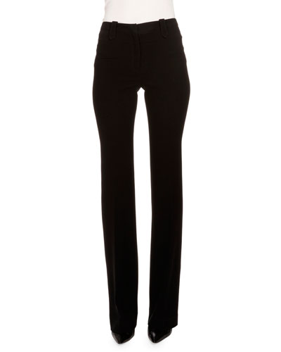 Serge Mid-Rise Slim-Leg Pants, Black
