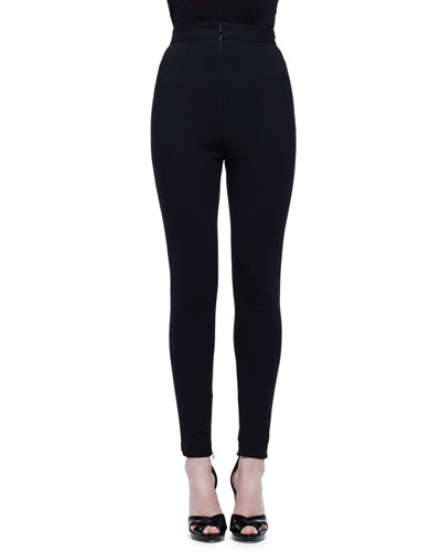 High-Waist Legging Pants, Black