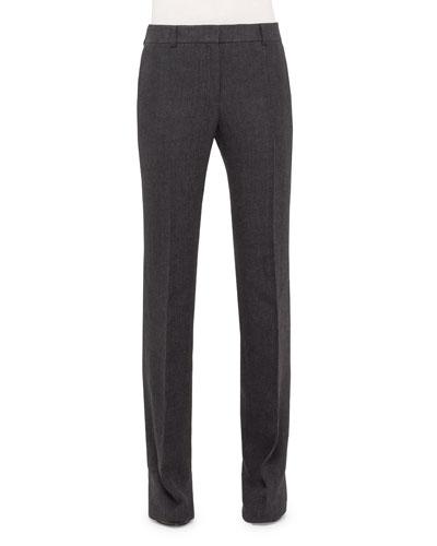 Farrah Boot-Cut Pants, Dark Gray