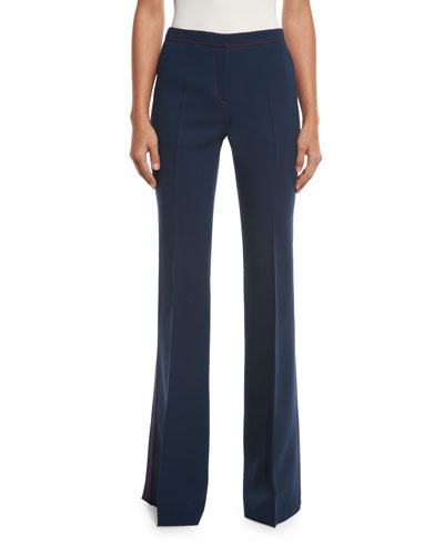 Tailored Boot-Cut Trousers, Ink Blue