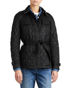 Finsbridge Hooded Quilted Short Jacket, Black
