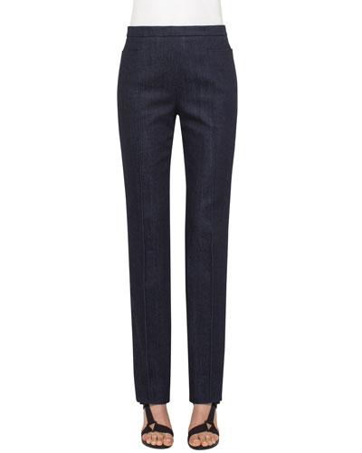 Francoise Straight-Leg Jeans, Denim
