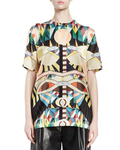 Crazy Cleopatra-Print T-Shirt, Multi Colors