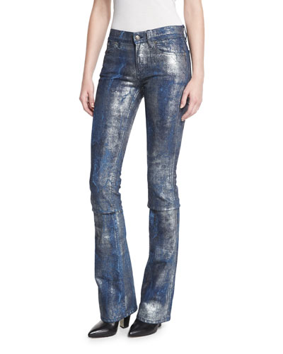 867 Coated Boot-Cut Jeans, Mercury Indigo
