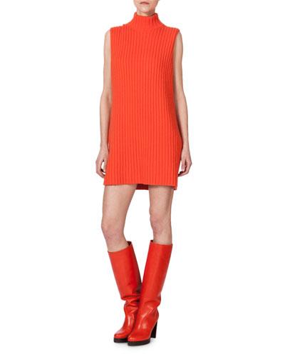Sleeveless Ribbed Cashmere Knit Tunic