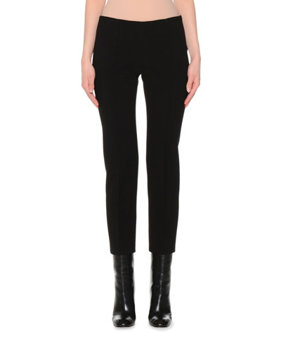 Skinny Cropped Pants, Black