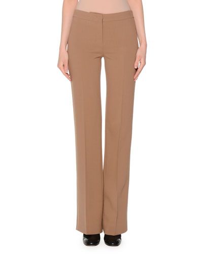 Iconic Mid-Rise Flare Pants, Tobacco