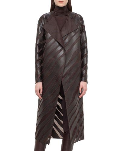 Zebra-Appliqué Organza Coat, Date