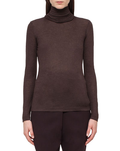 Massai-Collar Long-Sleeve Sweater, Date