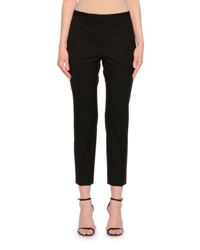 New Laura Skinny Cropped Pants, Black