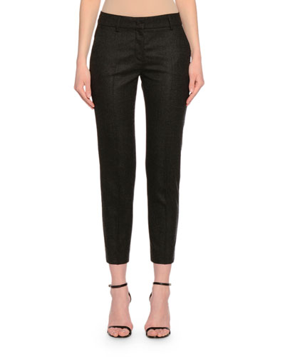 Kim Skinny Cropped Pants, Dark Gray