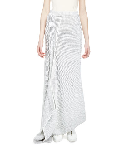 Fluid Speckle Maxi Skirt, Cream