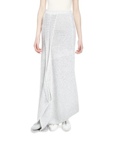Fluid Speckle Maxi Skirt, Cream