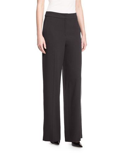 Tems Wide-Leg Pants, Black
