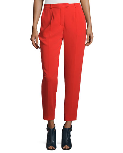 Talarant Slim-Leg Ankle Pants, Red