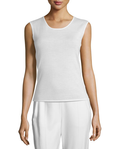 Essential Knit Tank, Ivory