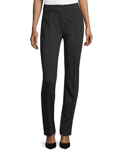 Tonisu Straight-Leg Pants, Black