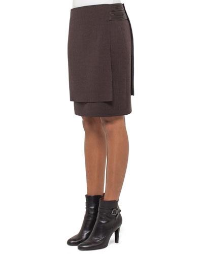 Massai-Side Layered A-Line Skirt, Date