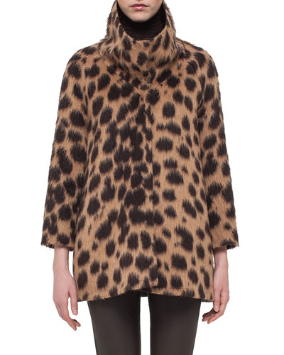 Spotted Stand-Collar Coat, Date