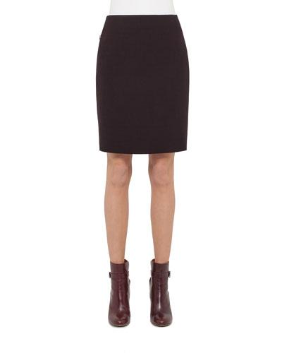 Zip-Pocket Pencil Skirt, Caimito