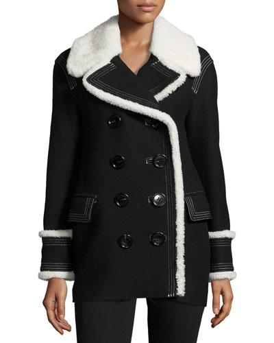 Coltsmeade Shearling Fur-Trim Peacoat