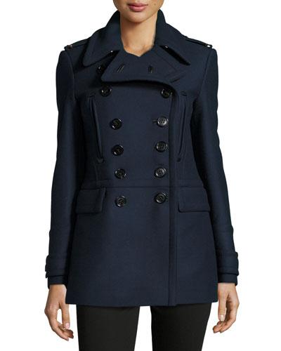 Milbridge Wool Twill Pea Coat