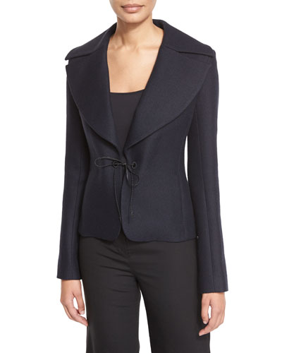 Nokbo Structured-Lapel Tie Jacket, Dark Navy