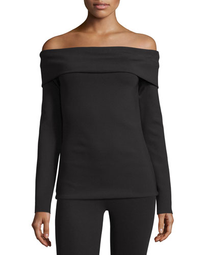 Lupino Off-the-Shoulder Top, Black