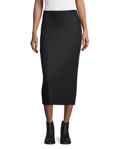 Hilda Pencil Midi Skirt, Black