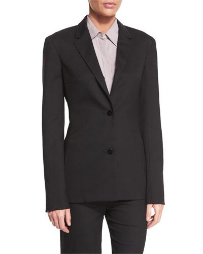 Gatha Two-Button Classic Jacket, Black