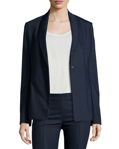 Shoner One-Button Shawl-Collar Blazer, Navy