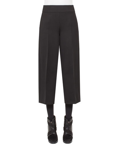 Corrine High-Waist Culottes, Black